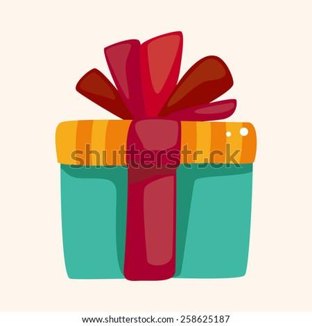 birthday presents theme elements - stock vector