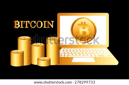 bit coin design, vector illustration eps10 graphic  - stock vector