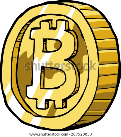Bitcoin on a white background vector illustration - stock vector