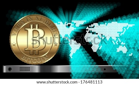 Bitcon Concept. EPS-10 separated by groups and layers for easy edit - stock vector
