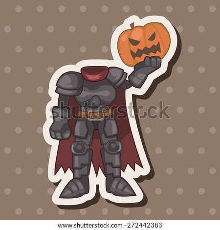 bizarre monster pumpkin theme elements - stock vector