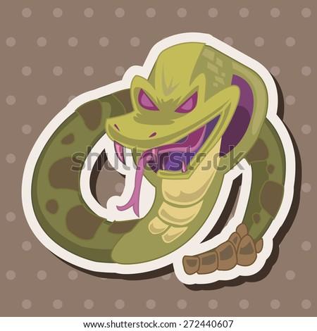 bizarre monster snake theme elements - stock vector