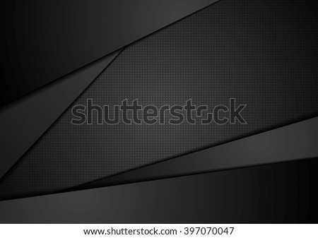 Black abstract corporate background. Black abstract vector design. Dark illustration, black stripes  - stock vector