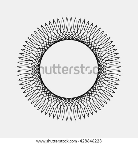 Black abstract fractal, rotation, repeat, reflection shape with light background for logo, design concepts, posters, banners, wallpapers, business presentations, web and prints. Vector illustration. - stock vector