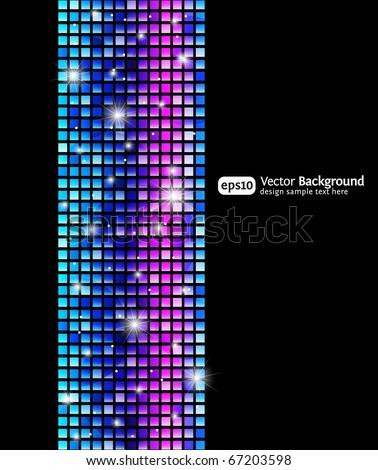 Black abstract vertical background. Vector design template. - stock vector