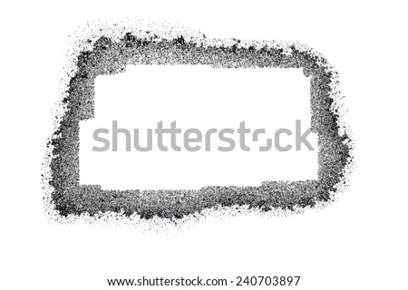 black and gray grunge frame vector - stock vector