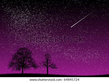 black and purple dark night - stock vector