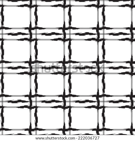 Black and white abstract  monochrome  Seamless Pattern - stock vector