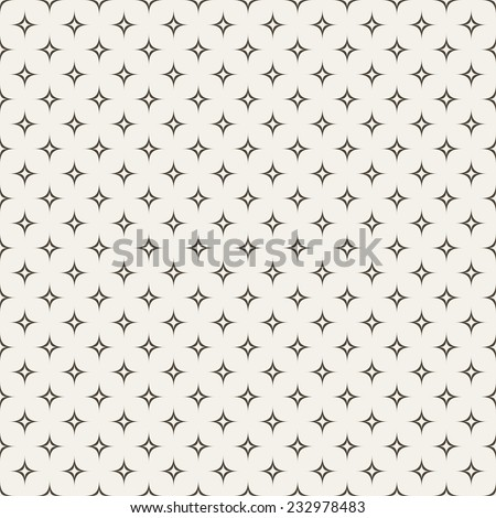 Black and white abstract star seamless pattern. Vector illustration for modern universal background. Star shapes. - stock vector