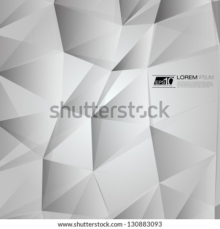 Black and White Abstract Triangles Vector Background | EPS10 Business Layout - stock vector
