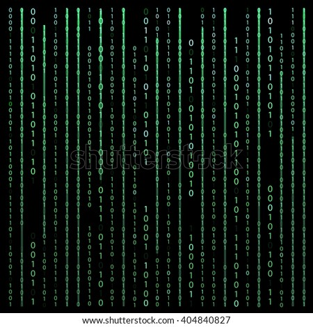 Black and White. Algorithm Binary Code with Digits on Background, Encoding, Decryptiondata Code, Programming,  Matrix. Computer Technology Background Vector Illustration. EPS10 - stock vector