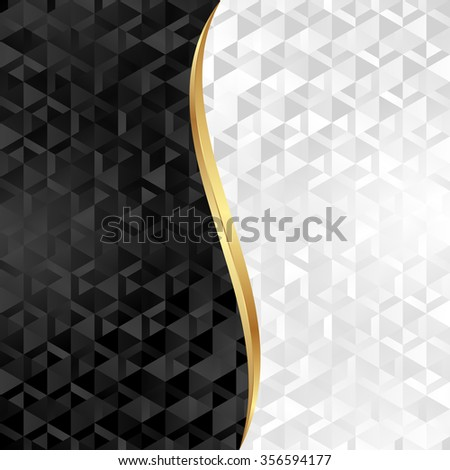 black and white background with abstract texture - stock vector