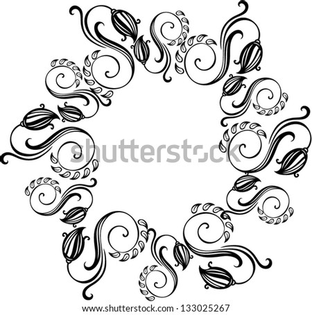 Black and white background with frame - vector - stock vector