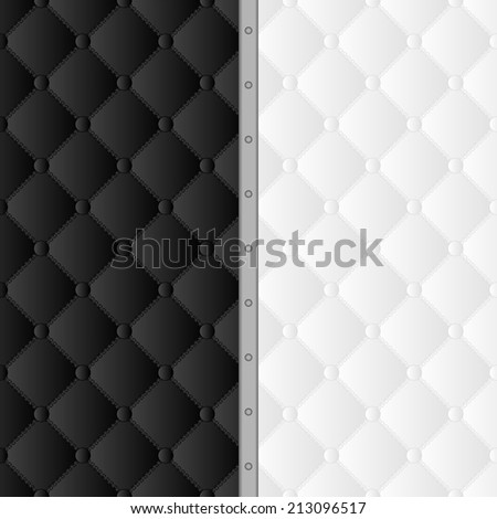 black and white background with pattern - stock vector