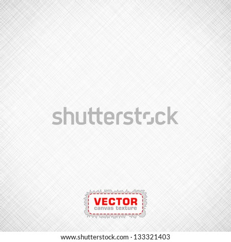 Black and White canvas texture. EPS 10 vector illustration. Used transparency layers of background. - stock vector