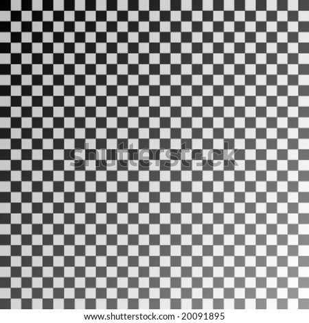 black and white chessboard with shadow - stock vector