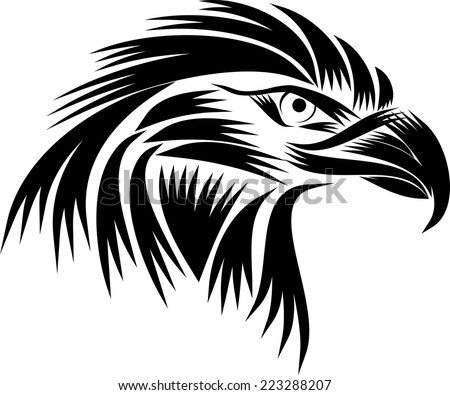 Eagle head logo black and white - photo#10