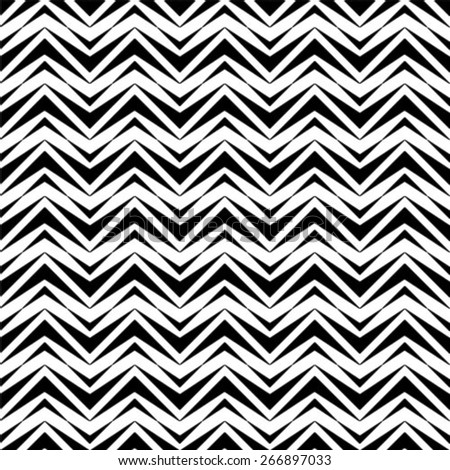 Black and white geometric seamless pattern, abstract background. - stock vector