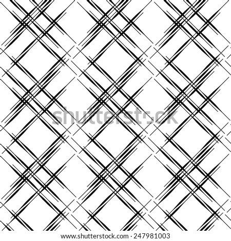Black and white geometric seamless pattern modern stylish, abstract background. vector, illustration. - stock vector