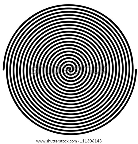 Black and white hypnotic background. - stock vector