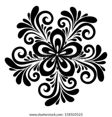 Stock images similar to id 132240020 beautiful black and white - Design black and white ...