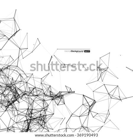 Black and White Mesh Vector Background | EPS10 Design - stock vector