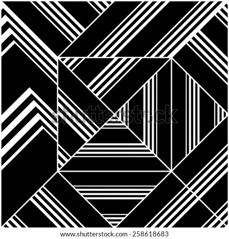 Black And White Pattern Vector 148 - stock vector