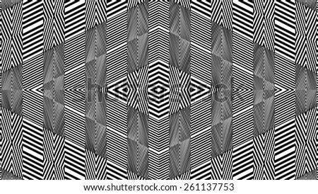 Black And White Pattern Vector 150 - stock vector