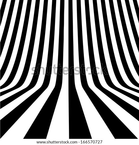 Black and white perspective background - stock vector