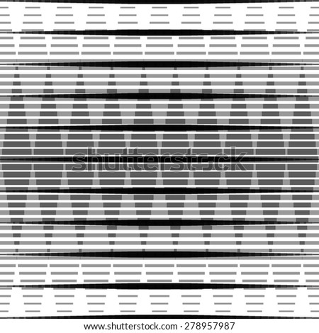 Black and white repeating pattern with abstract geometry - stock vector