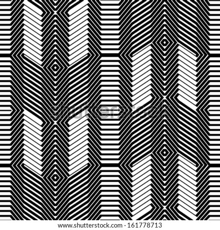 Black and white seamless background pattern - stock vector