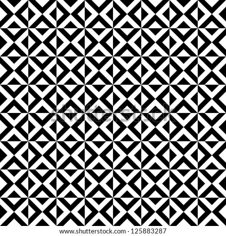 Black and white seamless rhombus pattern - stock vector