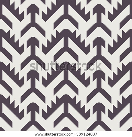 Black and White Seamless Vector Pattern for Textile Design. Repeating Geometric Tiles with Houndstooth Elements - stock vector