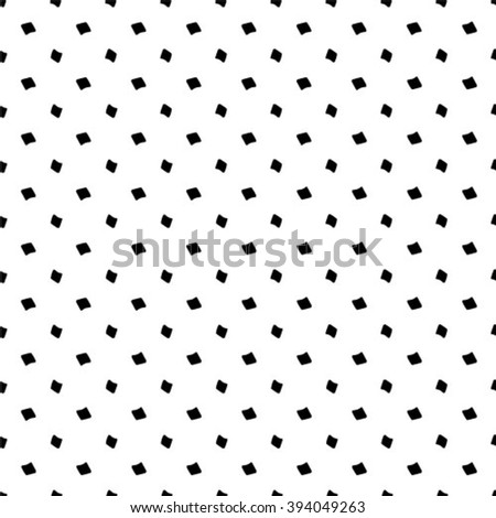 Black and white, vector  geometric pattern - stock vector