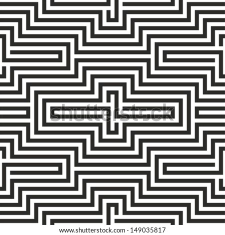 Black and white zigzag seamless pattern - stock vector