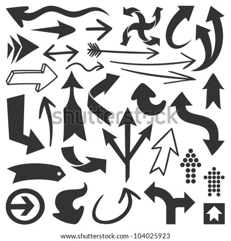 Black arrows-Set 1 - stock vector