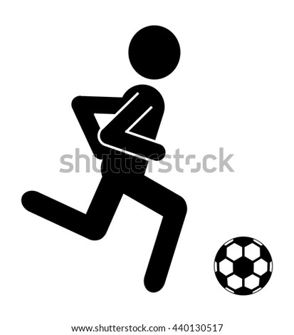 black avatar man playing with soccer ball side view over isolated background,vector illustration - stock vector