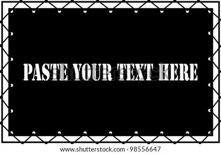 black banner - stock vector