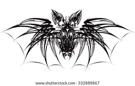 Black bat - stock vector