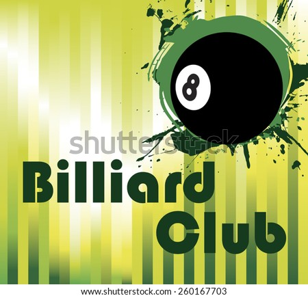 Black billiard ball - stock vector