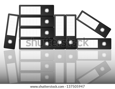 Black binders - stock vector