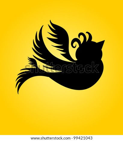 black birds - stock vector