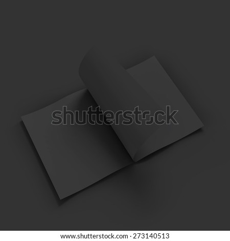 Black blank magazine spread. Business mockup template. Presentation of your branding and identity design. Vector Illustration EPS10. - stock vector