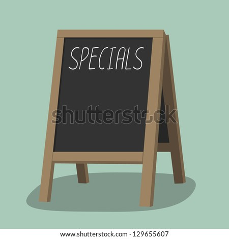 black board (menu board) at a restaurant - stock vector
