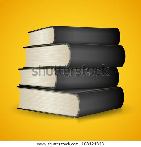Black Books - stock vector