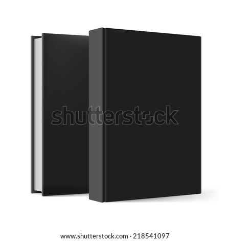 Black books. Illustration on white background for design - stock vector