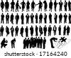 Black business people - stock vector