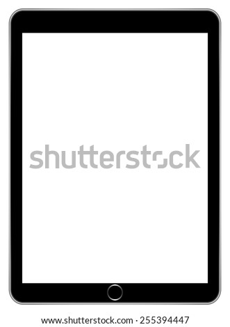 Black Business Tablet Similar To iPad Air Isolated - stock vector