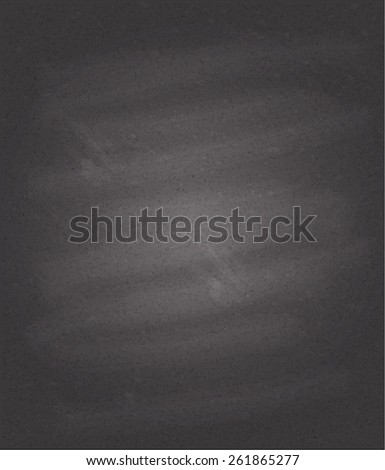 Black chalkboard background, detailed texture. Vector eps10. - stock vector