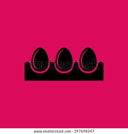 Black Colored Egg Tray Icon. Eps-10. - stock vector